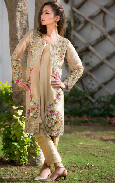 NF3037 - Hand crafted Jacket in Resham
