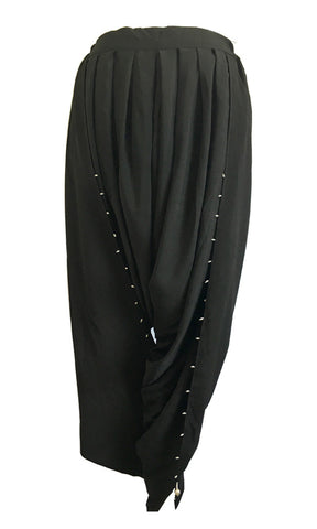 MU0125 - Beautiful Pearl Black Tulip Pants