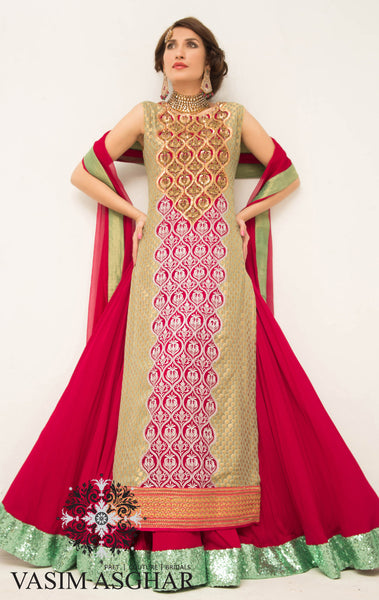 VA109 - Two toned lengha
