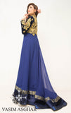 VA105 - Luxury Electric Blue Trail Dress