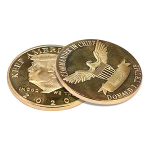 "𝗗𝗼𝗻𝗮𝗹𝗱 𝗝. 𝗧𝗿𝘂𝗺𝗽 2020 ""Keep America Great"" Gold Commemorative Coin"