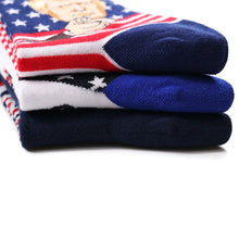 "Load image into Gallery viewer, 𝗗𝗼𝗻𝗮𝗹𝗱 𝗝. 𝗧𝗿𝘂𝗺𝗽 ""Make America Great Again"" Cotton Socks"