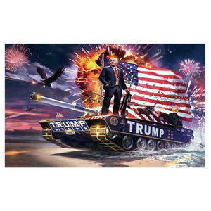 "Hot 3 x 5ft 𝗗𝗼𝗻𝗮𝗹𝗱 𝗝. 𝗧𝗿𝘂𝗺𝗽 Flag 2020 - ""Keep America Great"" - USA President Banner"