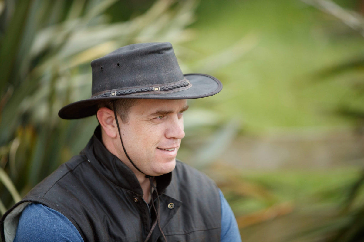 Outback Trading Company Ironbark Leather Hat