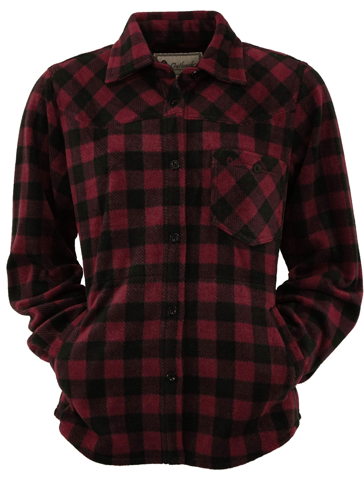 Outback Trading Company Ladies Big Shirt WINE / SM 4267-WIN-SM