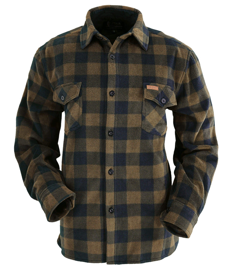 Outback Trading Company Mens Big Shirt BROWN / MD 4268-BRN-MD