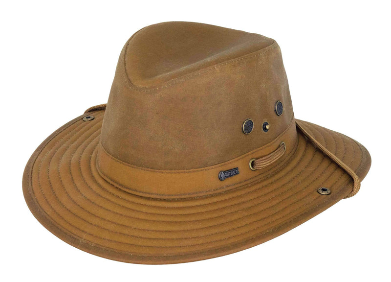 Outback Trading Company Oilskin River Guide Hat BROWN / SM 1497-BRN-SM