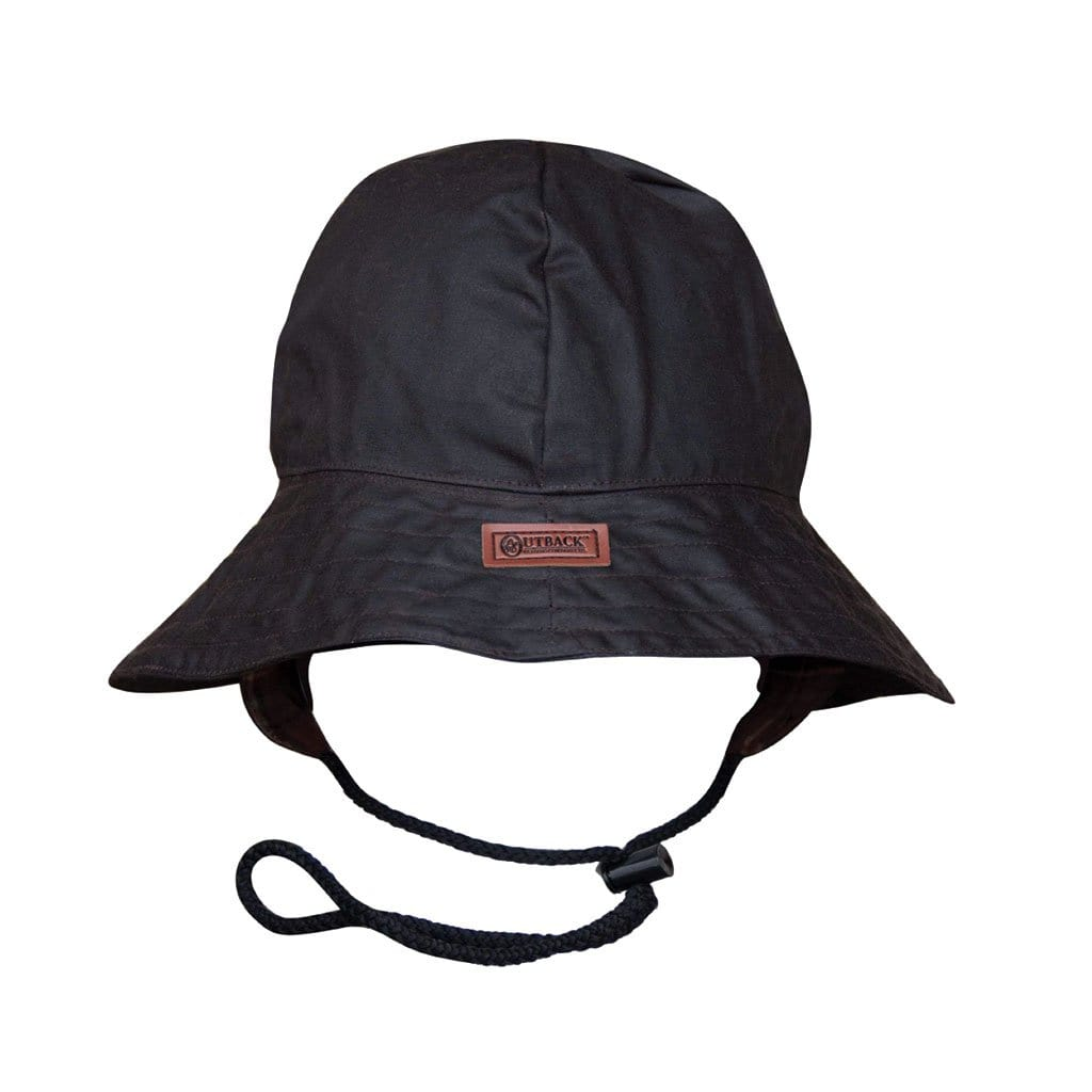 Outback Trading Company Souwester Oilskin hat BROWN / SM 1496-BRN-SM