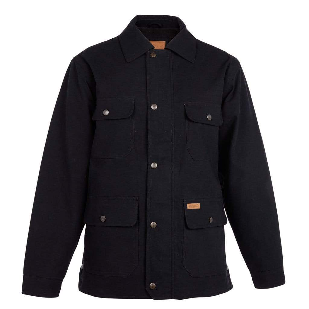 Outback Trading Company Thomas Canvas Jacket BLACK / SM 28910-BLK-SM