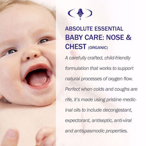 Baby Care: Nose & Chest Organic Oil 10ml - Absolute Essential