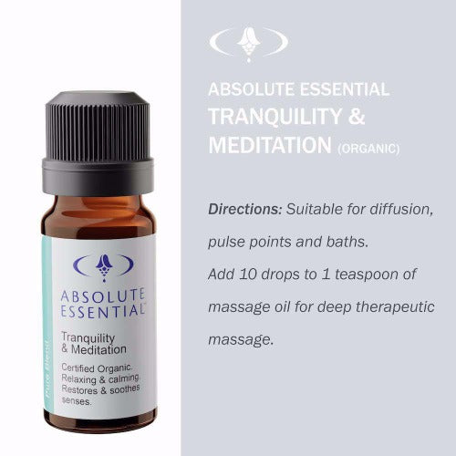 Tranquility & Meditation Organic Oil 10ml - Absolute Essential