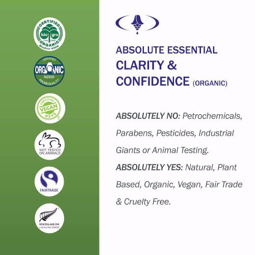 Clarity & Confidence Organic Oil 10ml - Absolute Essential
