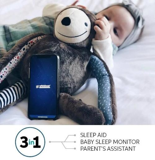 Whisbear - E-zzy The Sloth 3 In 1 Baby Monitor
