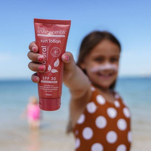 Natural Sun Lotion SPF30+ UVA/UVB 100ml - Little Innoscents'