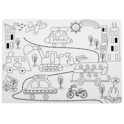 Mombella - Reusable Silicone Colouring Placemat