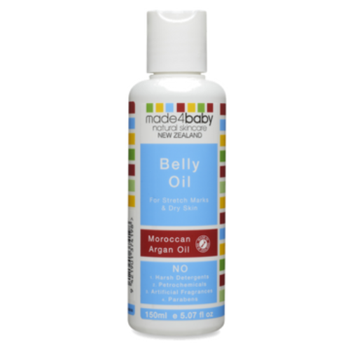 Belly Oil Moroccan Argan Oil for Stretch Marks 150ml - Made 4 Baby