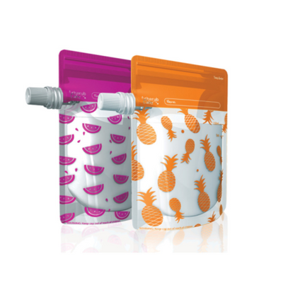 On The Go Food Pouches LARGE 10 Pack - Cherub Baby