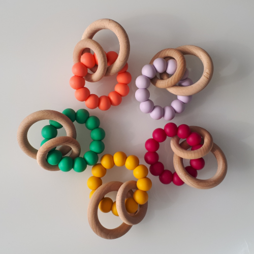 Liv n Colour - Duo Ring Teether Rattle