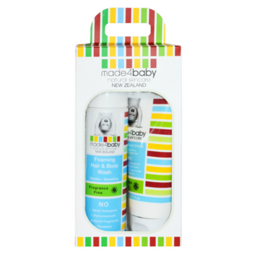 Baby Essential Pack (Foaming Hair and Body Wash and Botty Barrier Crème) - Made 4 Baby