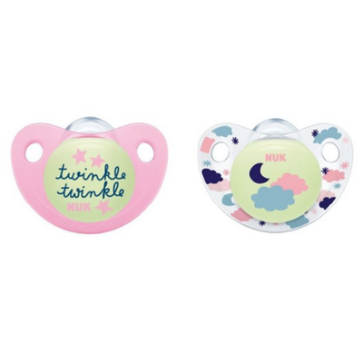 Glow In The Dark Soothers Size 18-36 Months Twin Pack NEW - NUK