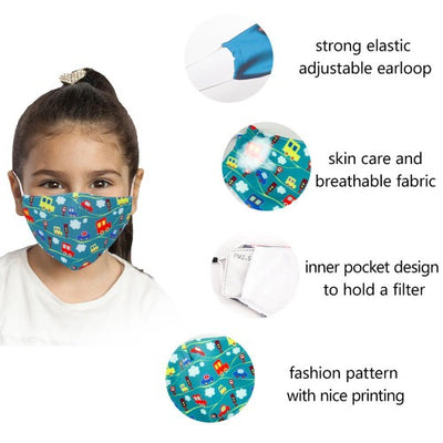 Childrens Reusable Facemask with certified PM2.5 filter