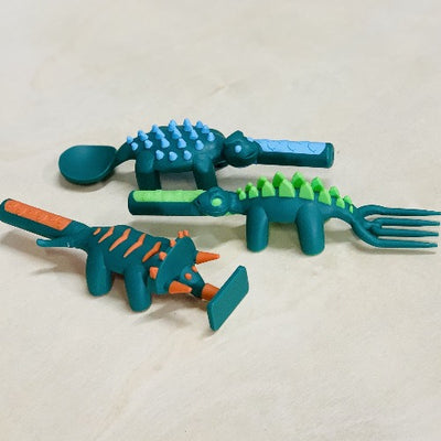 Individual Dinosaur Utensils - Constructive Eating