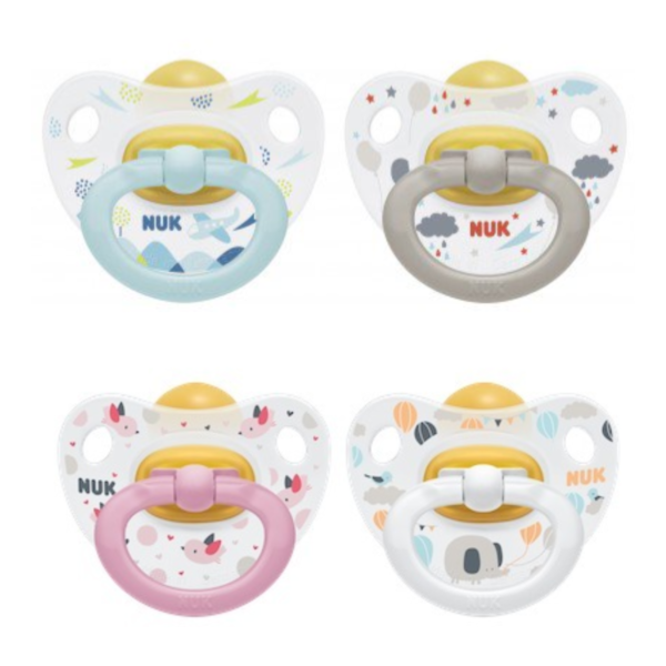 Happy Kids Latex Twin Pack Soother 0-6M (NEW) - NUK