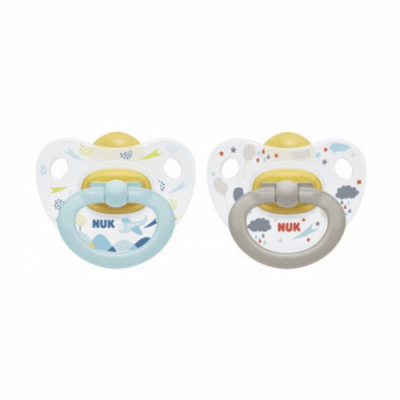Happy Kids Latex Twin Pack Soothers 18-36M (NEW) - NUK