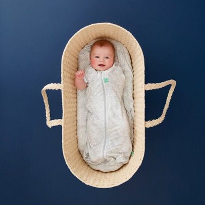 ErgoPouch Organic//Bamboo 0.2 TOG Cocoon Swaddle Bag 3-12m Baby//Infant Waves WHT