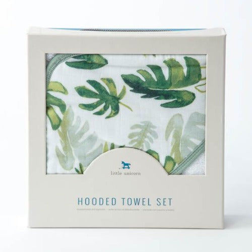 Little Unicorn - Hooded Towel and Wash Cloth Gift Set