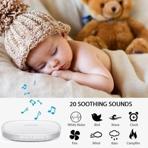 AuCuTee S5 - Sleepytot White and Pink Noise Therapy Machine