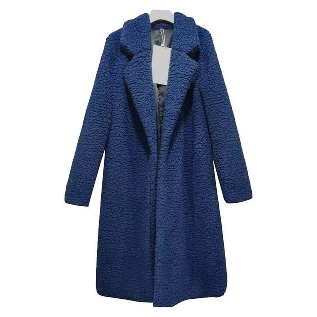 Warme Dames Overcoat Jas