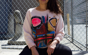 Hand Painted Sweater