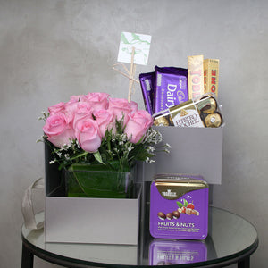 Rose Chocolate Gift Set