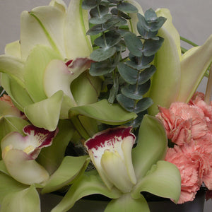 Cymbidium with Carnations