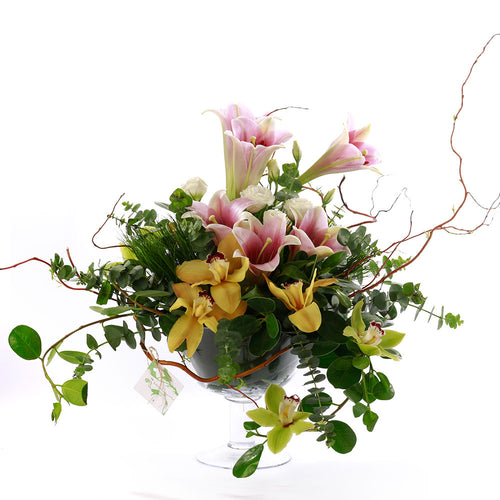 Ikebana Glass Arrangement