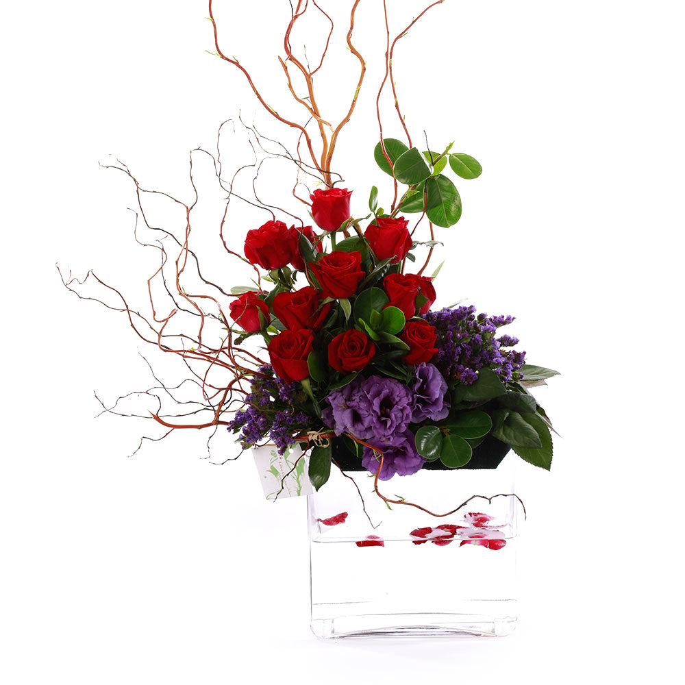 Red Roses Vase Arrangement