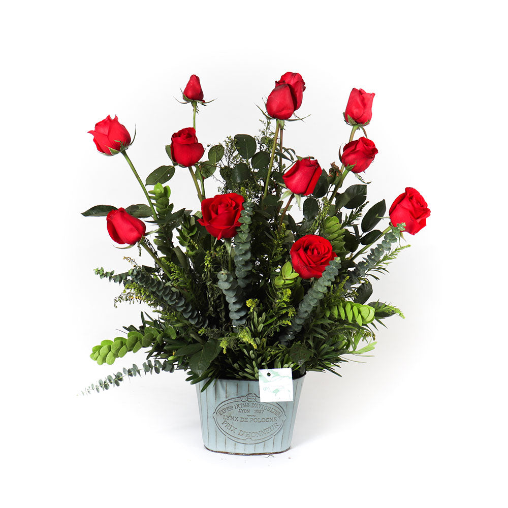 Colombian Roses in Can Vase