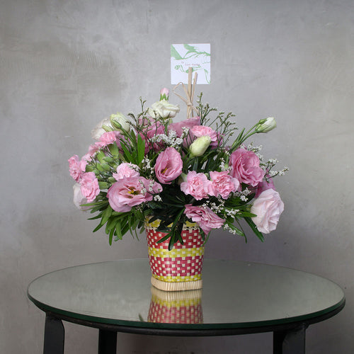 All pink lisianthus