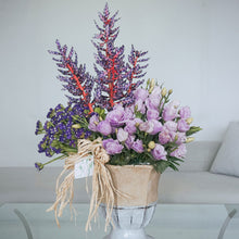 Load image into Gallery viewer, Purple Vase Arrangement