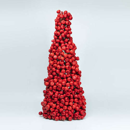 Christmas Tree Table Decors - Red Cherries