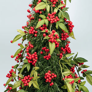 Christmas Tree Table Decors - Tree with Red Cherries