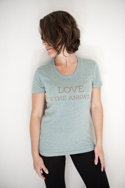 LOVE is the answer t-shirt. mod-1001