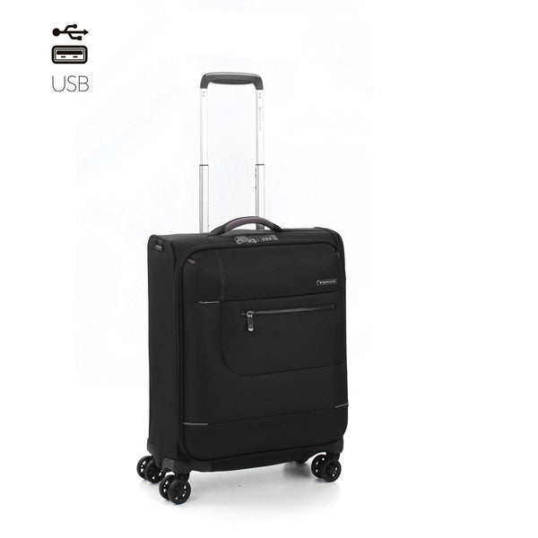 SIDETRACK CABIN TROLLEY 55 x 40 x 20 WITH EXTERNAL USB PORT - Heros