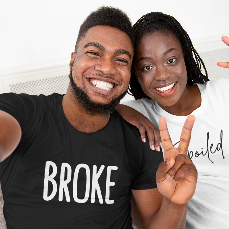 Broke and Spoiled Couple Set