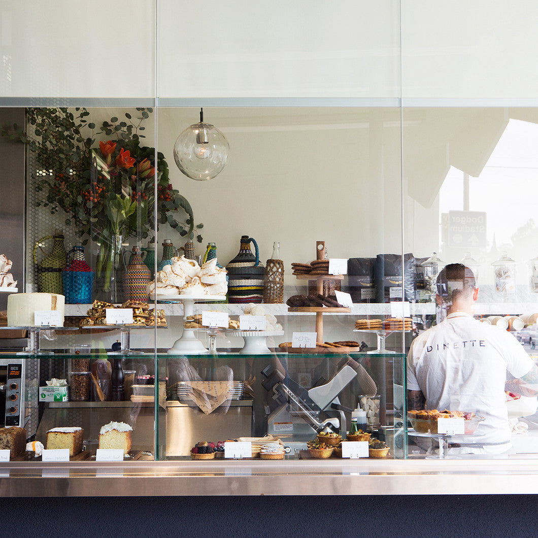 Pastries fill the window of Dinette.