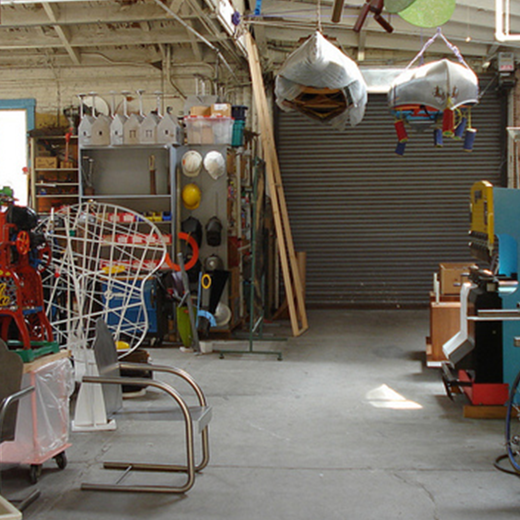 Interior of Peter Shire studio.