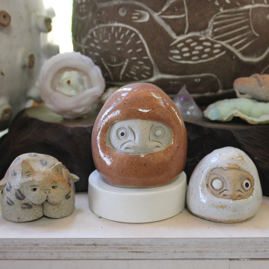 Some of Linda's pieces on display.