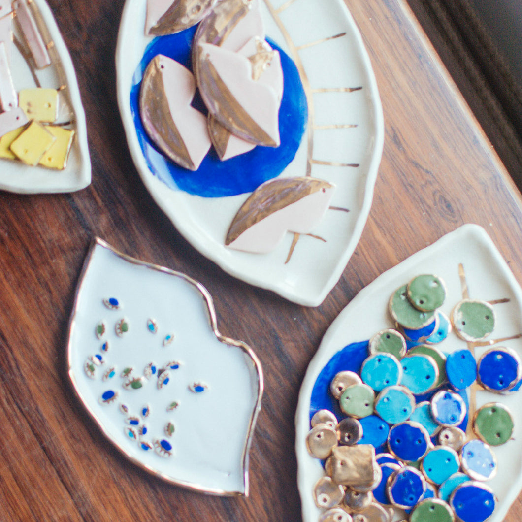 dishes of ceramics