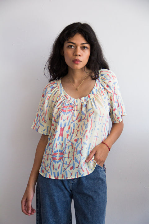 silk blouse with print by Myrtle